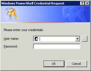 Windows PowerShell Credentials Request Box
